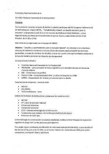 Invitación XIV Congreso Internacional de Rehabilitación Infantil ORITEL