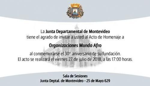 Acto de Homenaje a Organizaciones Mundo Afro