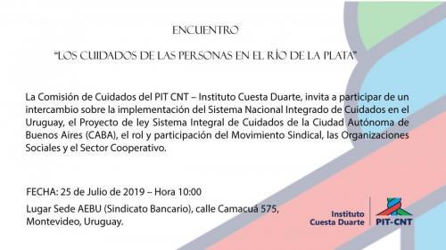 """Encuentro """"Los cuidados de las personas en el Río de la Plata"""" 2019"""