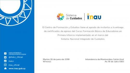 """Invitación """"Formación básica de educadores en Primera Infancia"""""""