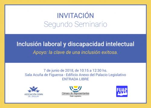 Segundo Seminario de Inclusión Laboral y Discapacidad Intelectual
