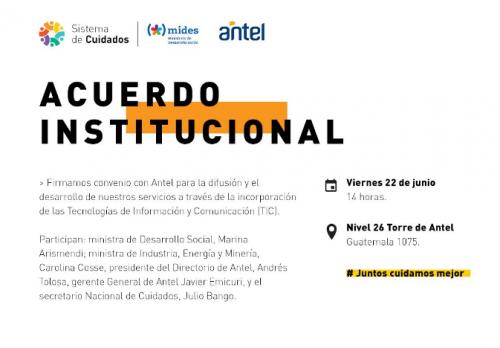 INVITACIÓN | Acuerdo institucional con Antel
